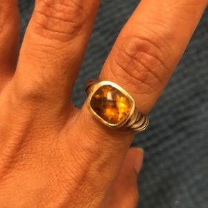 David Yurman citrine ring 6.25